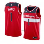 Camiseta Washington Wizards Austin Rivers #1 Icon 2018 Rojo2