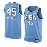 Camiseta 2019 Rising Star Don ovan Mitchell #45 World Azul