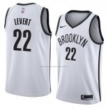 Camiseta Brooklyn Nets Caris Levert #22 Association 2017-18 Blanco