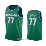 Camiseta Dallas Mavericks Luka Doncic #77 Hardwood Classics 2020-21 Verde