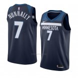 Camiseta Minnesota Timberwolves James Nunnally #7 Icon 2017-18 Azul