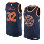 Camiseta New York Knicks Noah Vonleh #32 Ciudad 2018 Azul