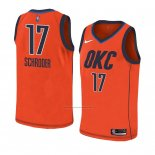 Camiseta Oklahoma City Thunder Dennis Schroder #17 Earned 2018-19 Naranja