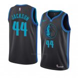 Camiseta Dallas Mavericks Justin Jackson #44 Ciudad 2018-19 Azul