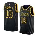 Camiseta Los Angeles Lakers Joel Berry Ii #18 Ciudad 2018 Negro