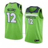 Camiseta Minnesota Timberwolves C. J. Williams #12 Statement 2018 Verde