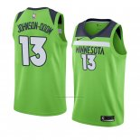 Camiseta Minnesota Timberwolves Darius Johnson-odom #13 Statement 2018 Verde