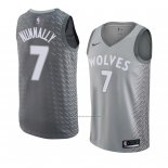 Camiseta Minnesota Timberwolves James Nunnally #7 Ciudad 2018 Gris
