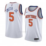 Camiseta New York Knicks Dennis Smith Jr. #5 Statement 2018 Blanco