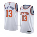 Camiseta New York Knicks Knicks Henry Ellenson #13 Statement 2018 Blanco