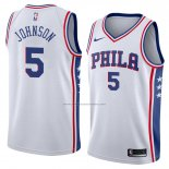 Camiseta Philadelphia 76ers Amir Johnson #5 Association 2018 Blanco