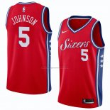 Camiseta Philadelphia 76ers Amir Johnson #5 Statement 2018 Rojo