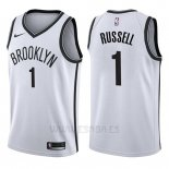 Camiseta Brooklyn Nets D'angelo Russell #1 Association 2017-18 Blanco