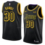 Camiseta Los Angeles Lakers Julius Randle #30 Ciudad 2018 Negro
