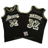 Camiseta Los Angeles Lakers Magic Johnson #32 Camuflaje Negro
