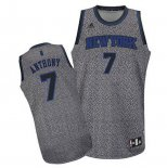Camiseta Moda Estatica New York Knicks Carmelo Anthony #7 Gris