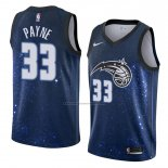 Camiseta Orlando Magic Adreian Payne #33 Ciudad 2018 Azul