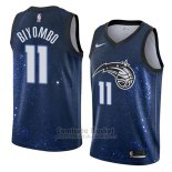 Camiseta Orlando Magic Bismack Biyombo #11 Ciudad 2018 Azul