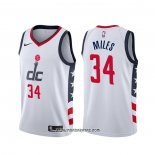 Camiseta Washington Wizards C.j. Miles #34 Ciudad 2019-20 Blanco