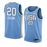 Camiseta 2019 Rising Star John Collins #20 World Azul