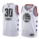 Camiseta All Star 2019 Golden State Warriors Stephen Curry #30 Blanco