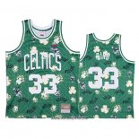 Camiseta Boston Celtics Larry Bird #33 Hardwood Classics Tear Up Pack Verde
