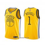 Camiseta Golden State Warriors D'angelo Russell #1 Earned Amarillo