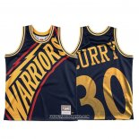 Camiseta Golden State Warriors Stephen Curry #30 Mitchell & Ness Big Face Azul