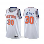 Camiseta New York Knicks Julius Randle #30 Statement Blanco