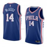Camiseta Philadelphia 76ers James Michael Mcadoo #14 Icon 2018 Azul