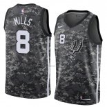 Camiseta San Antonio Spurs Patty Mills #8 Ciudad 2018 Gris