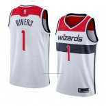Camiseta Washington Wizards Austin Rivers #1 Association 2018 Blanco2