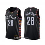 Camiseta Brooklyn Nets Spencer Dinwiddie #26 Ciudad Negro