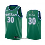 Camiseta Dallas Mavericks Seth Curry #30 Hardwood Classics 2020-21 Verde