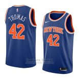 Camiseta New York Knicks Lance Thomas #42 Icon 2018 Azul