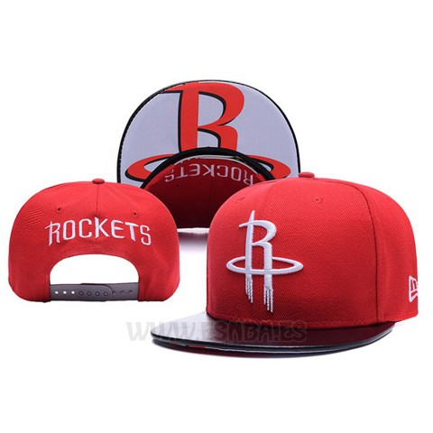 965d3d9190334 Gorra Houston Rockets Leather Rojo. Loading zoom